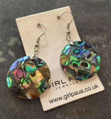 Paua Mosaic Earrings - Circle PE03-MC